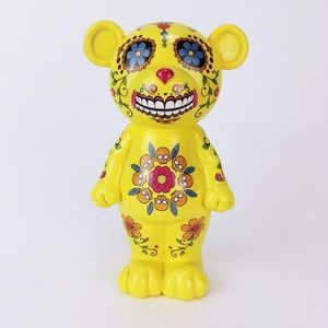 Other - Yellow ceramic painted bear bank
